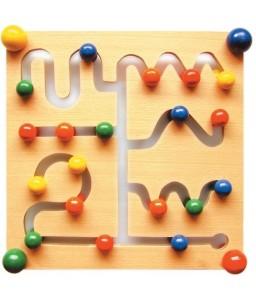 Tavola in legno Labirinto - Dimensioni cm. 30X30X7
