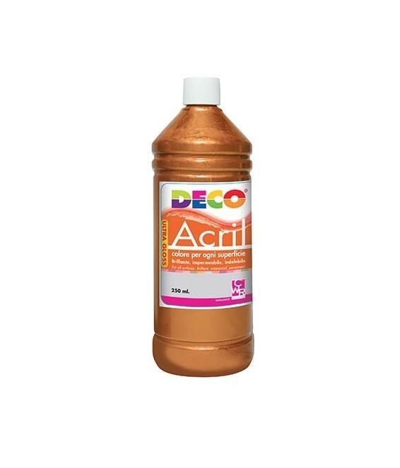 Colore acrilico Deco Acrìl flacone da 250ml. - Colore Bronzo