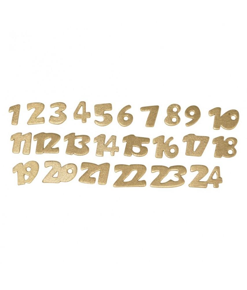 Numeri Per Calendario Avvento.Numeri Colore Oro Cm 2 Per Calendario D Avvento Conf 24 Pezzi