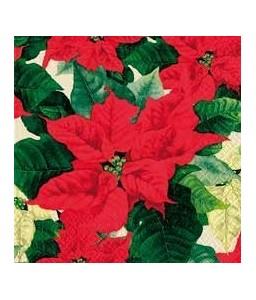 Tovaglioli Stella Di Natale.Tovaglioli Per Decoupage Cm 33x33 Stella Di Natale Conf 20 Pezzi